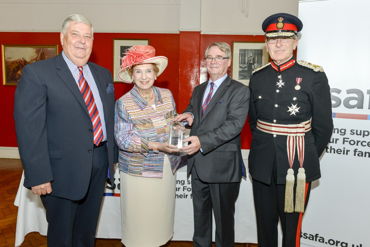 Left to right: Bernard Stonestreet, Hastings Divisional Secretary, SSAFA Sussex.   The Right Honourable The Baroness Fookes of Plymouth, DBE, DL, Branch President, SSAFA Sussex.    Alan Tait, DL, Branch Chairman SSAFA Sussex and Mr Peter Field, Lord Lieutenant, East Sussex