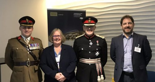 Col Ian Adkins, Kate Parkin, Lord Lieutenant of East Sussex, and Nick Lake
